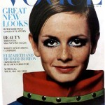 Vintage Vogue Cover with Twiggy